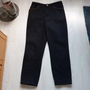 Jeans tief schwarz Größe 42...dicker Stoff