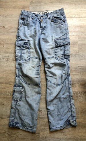 Timezone Workowate jeansy błękitny