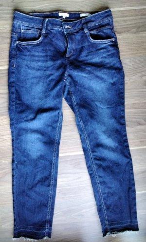 Tom Tailor Jeansy 7/8 niebieski