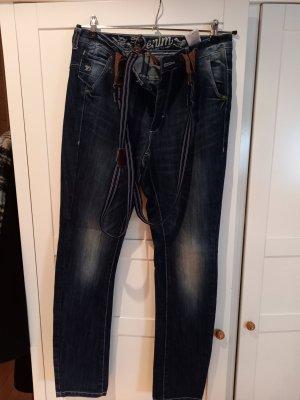 Tom Tailor Workowate jeansy niebieski Bawełna
