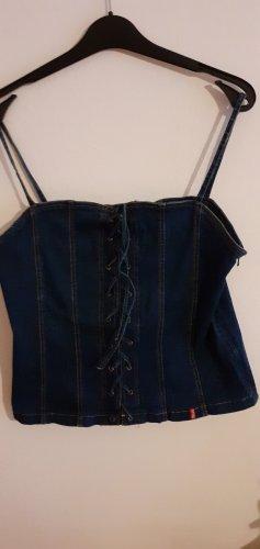 Basic Canotta a bretelle blu