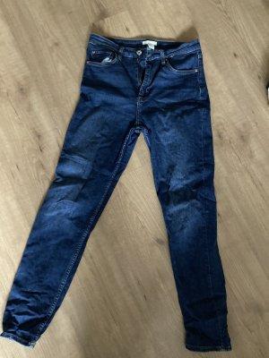 H&M Vaquero estilo zanahoria azul oscuro