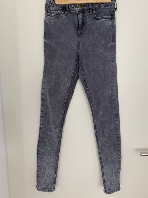 Jeans Topshop Acidwash grau skinny highwaisted