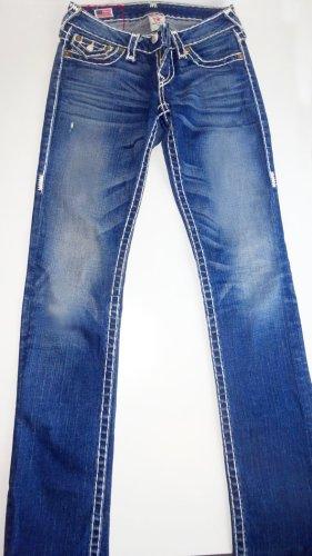 True Religion Jeansy z prostymi nogawkami niebieski