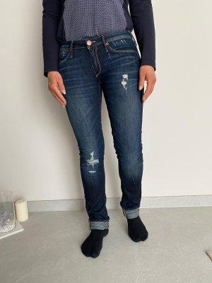 True Religion Jeans taille basse bleu foncé