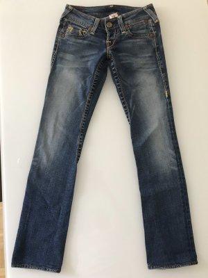 True Religion pantalón de cintura baja azul