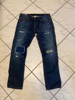 True Religion Straight Leg Jeans dark blue