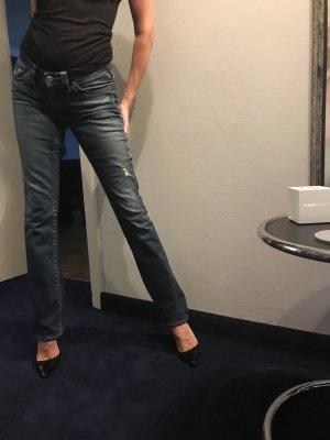 True Religion Jeansy z prostymi nogawkami ciemnoniebieski