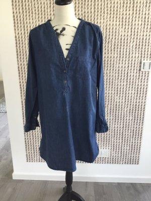 H&M Vestido vaquero azul oscuro
