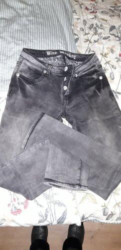 Blue Monkey Jeans cigarette noir-gris anthracite
