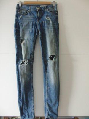 Zara Stretch Jeans steel blue cotton