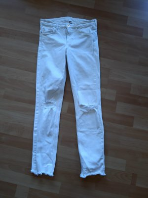 HM Slim Jeans white