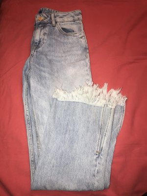 Jeans boyfriend bleuet