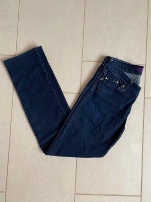 Victoria Beckham Jeans coupe-droite bleu foncé