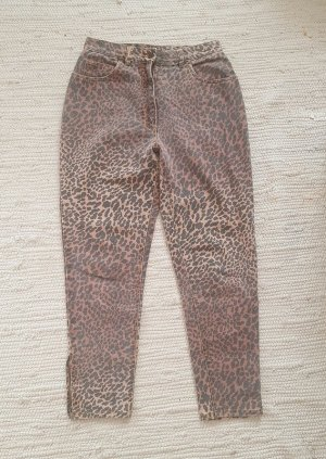 Vintage Jeans a carota multicolore Cotone