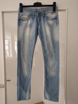 Diesel pantalón de cintura baja azul celeste