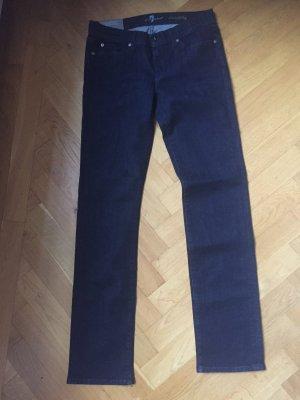 7 For All Mankind Jeansy z prostymi nogawkami ciemnoniebieski