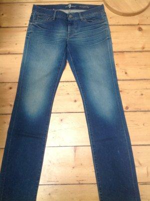 7 For All Mankind Jeans met rechte pijpen blauw Katoen
