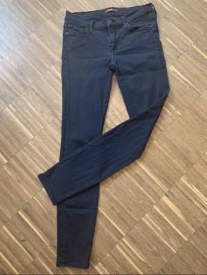 7 For All Mankind Jeans taille basse noir-gris anthracite