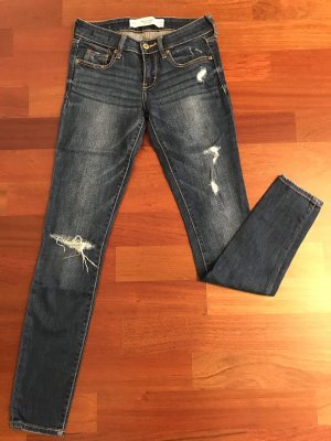Abercrombie & Fitch Jeans skinny bleu coton