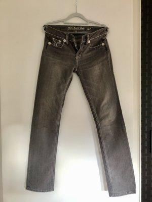 Amor, Trust & Truth Pantalon cinq poches gris clair-argenté coton