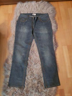 Amy Vermont Jeans coupe-droite bleu
