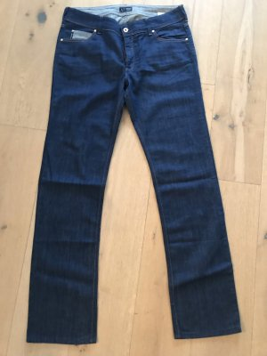 Armani Jeans Straight Leg Jeans dark blue