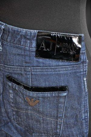 Armani Jeans High Waist Jeans dark blue-blue cotton