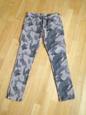Barbara Becker Skinny Jeans dark grey-grey cotton