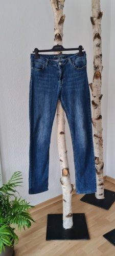 Blue Fire Tube Jeans dark blue