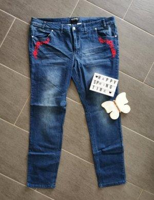 Bon Prix Jeans met rechte pijpen blauw