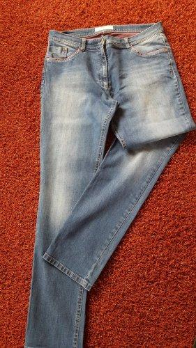 Brax Stretch jeans petrol Katoen