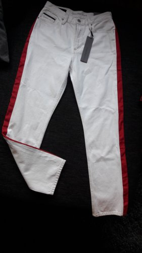 Calvin Klein Jeans Jeans a vita alta bianco-rosso mattone