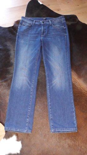 Cambio Jeans Jeansy ze stretchu niebieski Bawełna