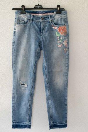 Cambio Straight Leg Jeans steel blue-azure