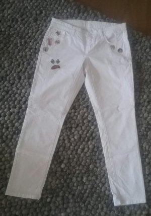 Cambio Jeans Jeans boyfriend blanc coton