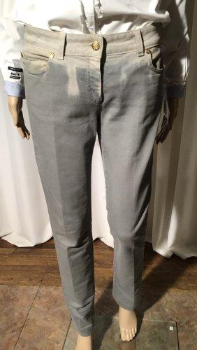 Cavalli Tube Jeans silver-colored spandex