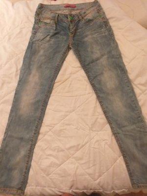 Cipo & Baxx Pantalone cinque tasche azzurro
