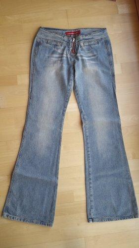 Cordon Boot Cut Jeans pale blue cotton
