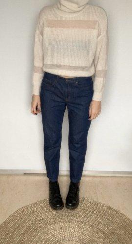 COS Boyfriend jeans donkerblauw-blauw