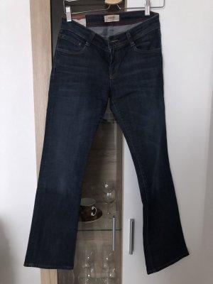 Cross Jeans coupe-droite bleu foncé coton