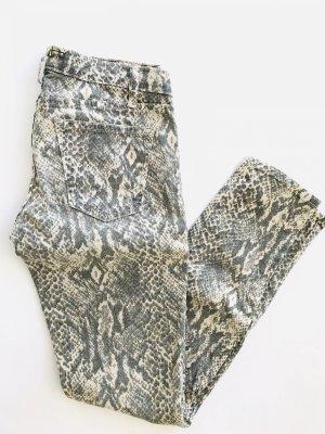 Jeans von Current Elliott, Gr. W26/S, beige-grau snakeprint