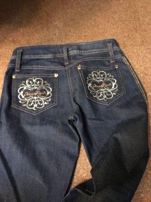Denny Rose Jeans vita bassa blu