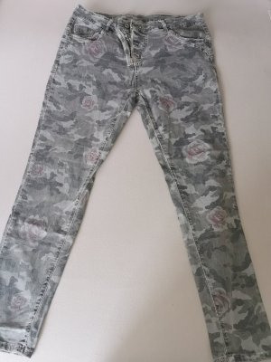 Tredy Jeans stretch gris vert