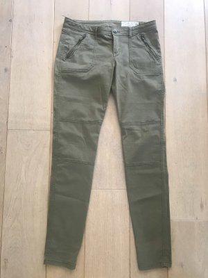edc by Esprit Spodnie khaki zielono-szary-khaki