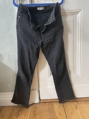 Edited Jeans a gamba dritta nero-lilla