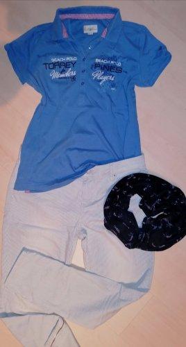 Esprit Jeans elasticizzati bianco-azzurro