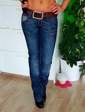 Fornarina Jeans taille basse bleu foncé