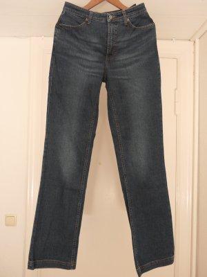 Gant Jeansy z prostymi nogawkami szary niebieski Bawełna