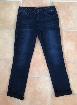 H.I.S Jeans a gamba dritta nero-blu